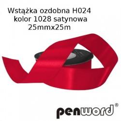 WSTĄŻKA OZDOBNA H024 KOL. 1028 SATYNOWA 25mmx25m