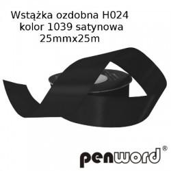 WSTĄŻKA OZDOBNA H024 KOL. 1039 SATYNOWA 25mmx25m