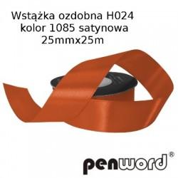 WSTĄŻKA OZDOBNA H024 KOL. 1085 SATYNOWA 25mmx25m