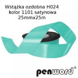 WSTĄŻKA OZDOBNA H024 KOL. 1101 SATYNOWA 25mmx25m
