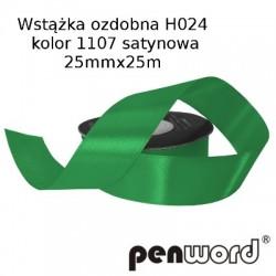 WSTĄŻKA OZDOBNA H024 KOL. 1107 SATYNOWA 25mmx25m