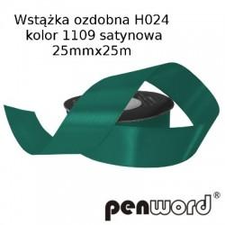 WSTĄŻKA OZDOBNA H024 KOL. 1109 SATYNOWA 25mmx25m