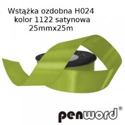 WSTĄŻKA OZDOBNA H024 KOL. 1122 SATYNOWA 25mmx25m