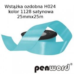 WSTĄŻKA OZDOBNA H024 KOL. 1128 SATYNOWA 25mmx25m