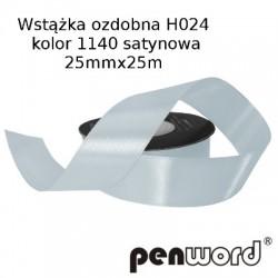WSTĄŻKA OZDOBNA H024 KOL. 1140 SATYNOWA 25mmx25m