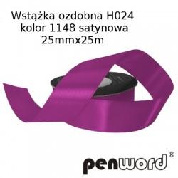 WSTĄŻKA OZDOBNA H024 KOL. 1148 SATYNOWA 25mmx25m