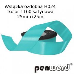 WSTĄŻKA OZDOBNA H024 KOL. 1160 SATYNOWA 25mmx25m
