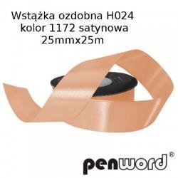 WSTĄŻKA OZDOBNA H024 KOL. 1172 SATYNOWA 25mmx25m