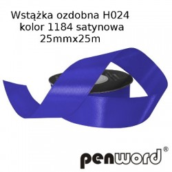 WSTĄŻKA OZDOBNA H024 KOL. 1184 SATYNOWA 25mmx25m