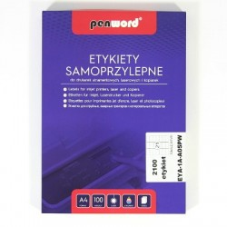 ETYKIETY SAMOPRZYLEPNE A4 21 x 70 x 42,3 100 ARKUSZY