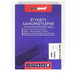 ETYKIETY SAMOPRZYLEPNE A4 24 x 70 x 37  100 ARKUSZY