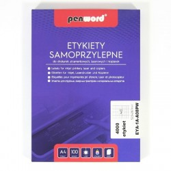 ETYKIETY SAMOPRZYLEPNE A4 40 x 52,5x29,7100 ARKUSZY