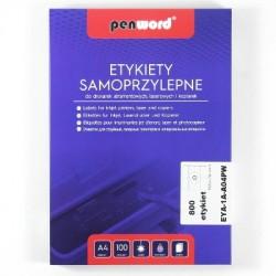 ETYKIETY SAMOPRZYLEPNE A4 8 x 105 x 74  100 ARKUSZY