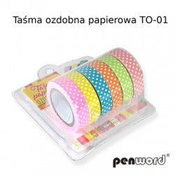 TAŚMA OZDOBNA TO-01 PAPIEROWA 10mmx6m a'6