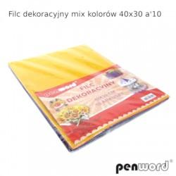 FILC DEKORACYJNY MIX KOLORÓW 40X30 a'10