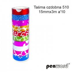 TAŚMA OZDOBNA 510 15mmx3m a'10