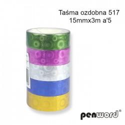 TAŚMA OZDOBNA 517 15mmx3m