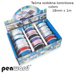 TAŚMA OZDOBNA KORONKOWA COLORS 18mmx1m