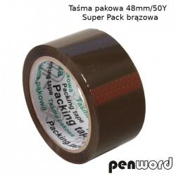 TAŚMA PAKOWA 48mm/50Y SUPER PACK BRĄZOWA