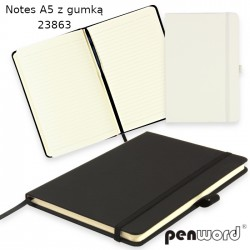 NOTES A5 Z GUMKĄ 23863