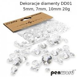 DEKORACJE DIAMENTY DD01 5mm, 7mm, 10mm 20g