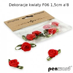 DEKORACJE KWIATY F06 1,5cm a'8