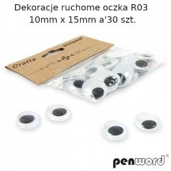 DEKORACJE RUCHOME OCZKA R03 1mm x 15mm a'30