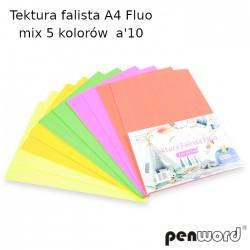 TEKTURA FALISTA A4 FLUO MIX 5 KOLORÓW a'10