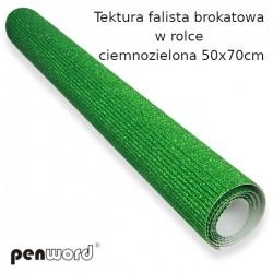 TEKTURA FAL. BROKAT. W ROLCE CIENMOZIELONA 50x70cm