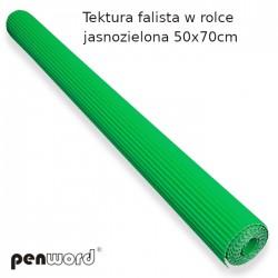 TEKTURA FALISTA W ROLCE JASNOZIELONA 50x70cm