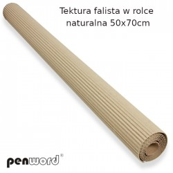 TEKTURA FALISTA W ROLCE NATURALNA 50x70cm