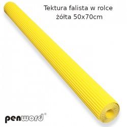 TEKTURA FALISTA W ROLCE ŻÓŁTA 50x70cm