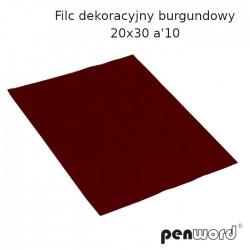 FILC DEKORACYJNY BURGUNDOWY 20X30 a'10