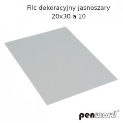 FILC DEKORACYJNY JASNOSZARY 20X30 a'10