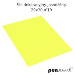FILC DEKORACYJNY JASNOŻÓŁTY 20X30 a'10