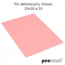 FILC DEKORACYJNY RÓŻOWY 20X30 a'10