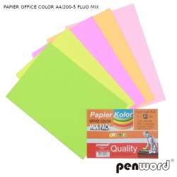 PAPIER OFFICE COLOR A4/200-5 FLUO MIX