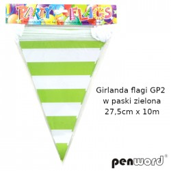 GIRLANDA FLAGI GP2 W PASKI ZIELONA 27,5cmx10m