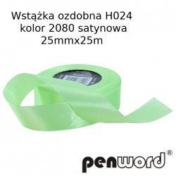 WSTĄŻKA OZDOBNA H024 KOL. 2080 SATYNOWA 25mmx25m
