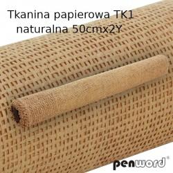 TKANINA PAPIEROWA Tk1 NATURALNA 50cmx2Y