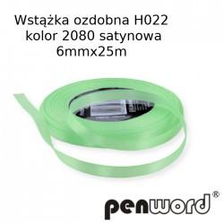 WSTĄŻKA OZDOBNA H022 KOL. 2080 SATYNOWA 6mmx25m