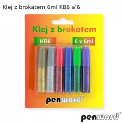 KLEJ Z BROKATEM 6ml KB6 a'6