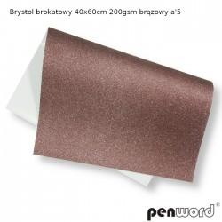 BRYSTOL BROKAT 40x60cm 200gsm BRĄZOWY a'5