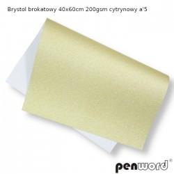 BRYSTOL BROKAT 40x60cm 200gsm CYTRYNOWY a'5