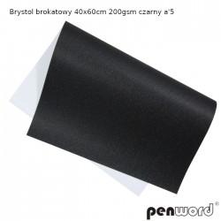 BRYSTOL BROKAT 40x60cm 200gsm CZARNY a'5