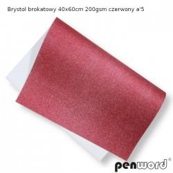BRYSTOL BROKAT 40x60cm 200gsm CZERWONY a'5