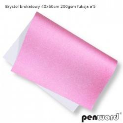 BRYSTOL BROKAT 40x60cm 200gsm FUKSJA a'5
