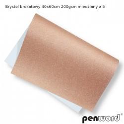 BRYSTOL BROKAT 40x60cm 200gsm MIEDZIANY a'5