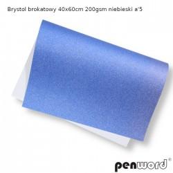 BRYSTOL BROKAT 40x60cm 200gsm NIEBIESKI a'5