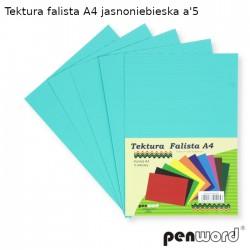 TEKTURA FALISTA A4 JASNONIEBIESKA a'5